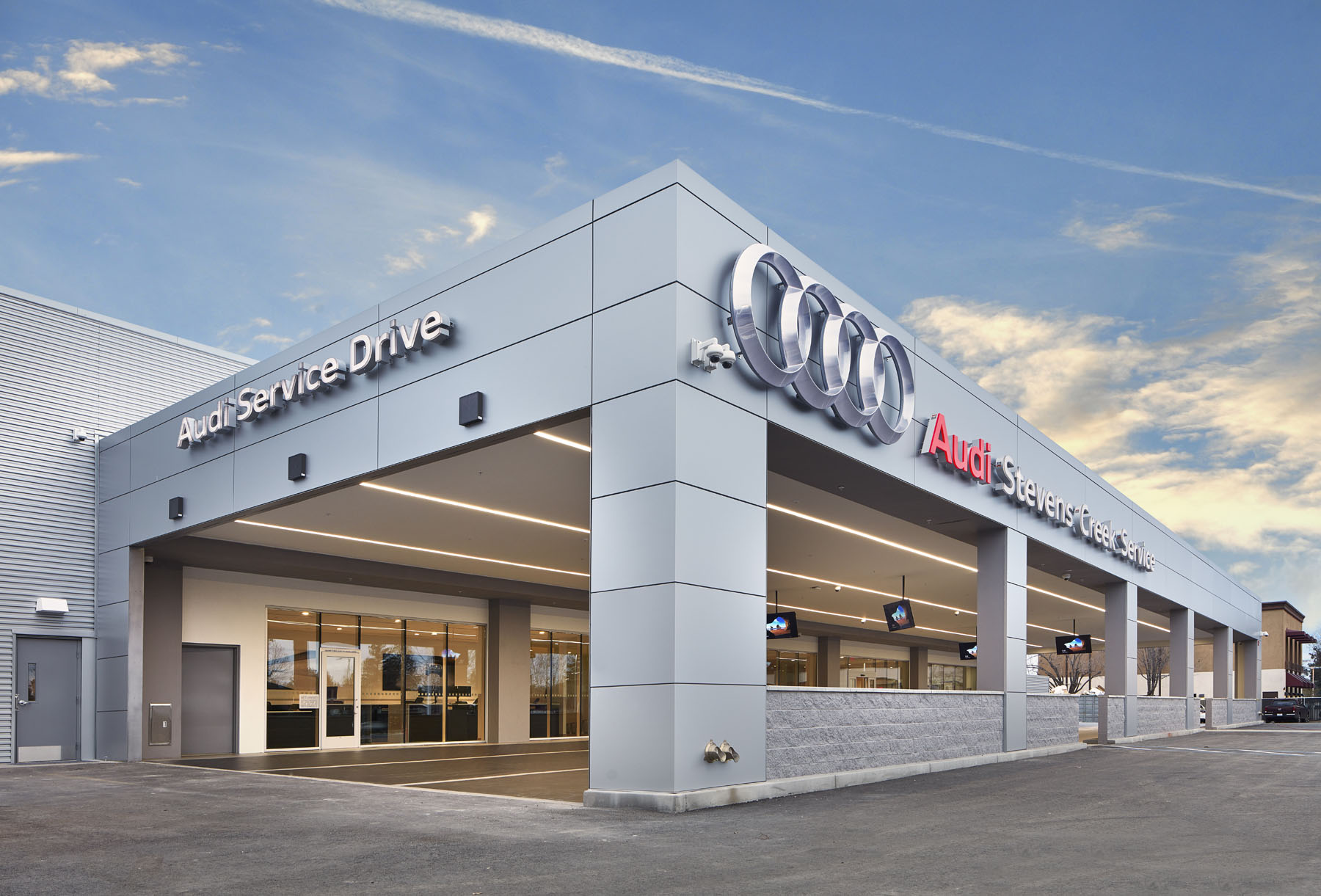 Audi San Jose >> Stevens Creek Audi Service Center Dempsey Construction